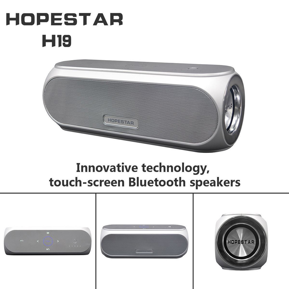HopeStar H19 Wireless Bluetooth speaker touch control Portable outdoor NFC/ Bluetooth mini speaker Shocking quality Subwoofer
