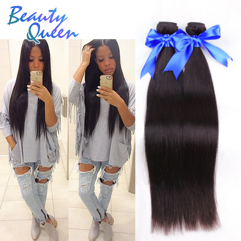 Vip Beauty Hair 8A Mongolian Straight Virgin Hair Bundles Cheap Unprocessed Human Hair 4 Bundle Deals For Your Nice Hair Forever(China (Mainland))