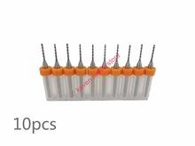 Freeshipping 10pcs/Set 0.75mm High Quality Hard Alloy PCB Print Circuit Board Carbide Micro Drill Bits Tool 0.75mm  for SMT CNC
