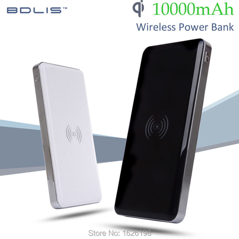 Qi Wireless Charger Portable Wireless Power Bank Wireless Charging Pad 10000mAh USB Power Bank for Qi Smart Phones(China (Mainland))
