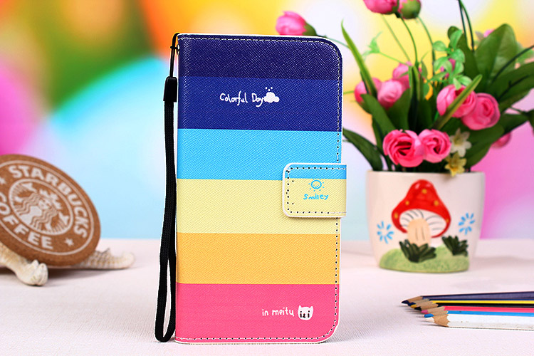 Fashion PU Leather Cartoon Painting Flip Wallet Style Cover For Highscreen Ice 2 Mobile Phone Case(China (Mainland))