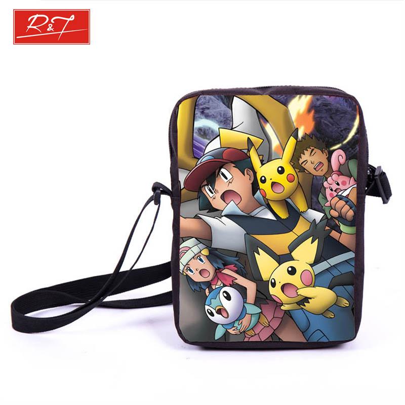 Anime Pokemon Pikacun Mario Dragon Ball Mini Messenger Bag Girls Boys School Bags Kids Book Bag Shoulder Bags For Snacks Lunch(China (Mainland))