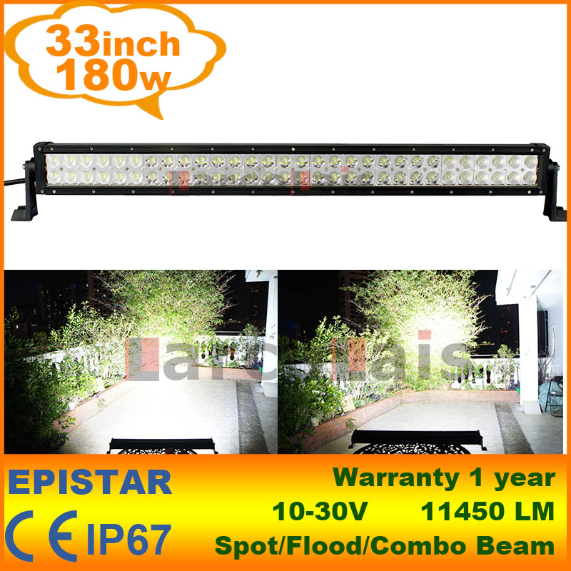180W 33 inch LED Work Driving Light Bar Tractor Truck Trailer SUV Offroads Boat 12V 24V 4WD Spot Flood Combo Beam - LarcoLais store