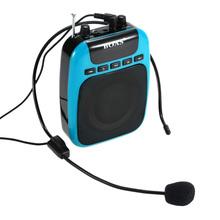 Portable Waistband Loudspeaker Amplifier FM Radio MP3 Playing Music Megaphone For Guide Teacher black EU Plug only(China (Mainland))