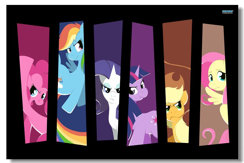 My Little Pony Friendship Is Magic Comic Poster Silk Wall