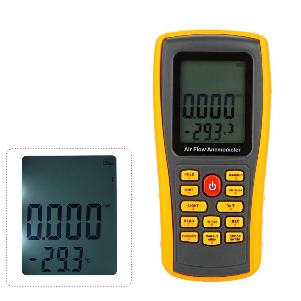 GM8902 Handheld Air Wind Speed Meter Digital Anemometer Thermometer Tester