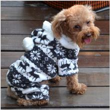 Fashion Warm Winter Hoodie Jumpsuit Coat Clothes Costume For Pet Dog Puppy 5 Size G01063(China (Mainland))
