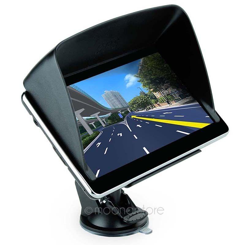 Hight Quality 7 inch Car GPS Truck Navigation MTK 4GB Capacity UK EU AU NZ Maps Speedcam POI with Sunshade FY8DA1110(China (Mainland))