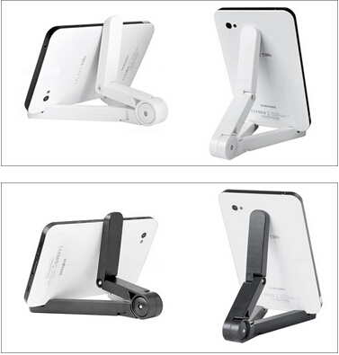 1 piece useful black and white 7-10 inches desktop tablet PC portable holder lazy person tablet computer stents(China (Mainland))