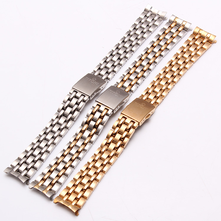 Classic Style Watchband Stainless steel straps for brand watches men 19mm hours accessories Folding Deployment Silver Gold <br><br>Aliexpress