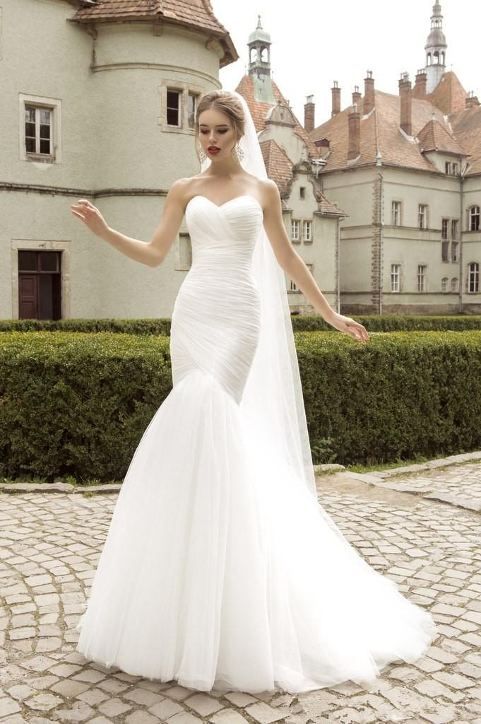 2016stock sexy mermaid wedding dresses strapless wedding