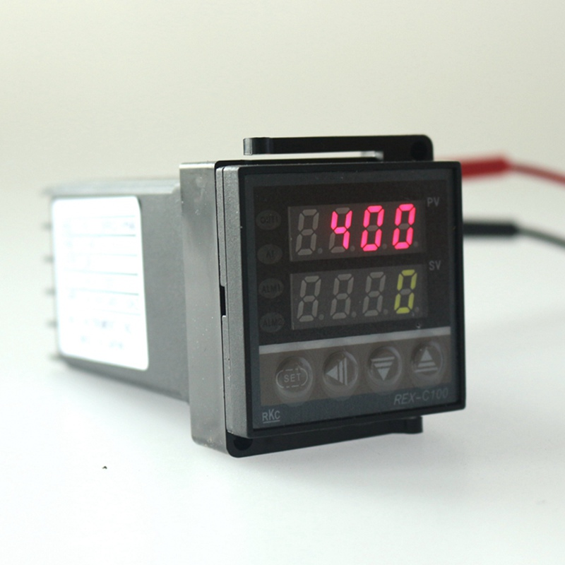 Dual Display temperature Controller Relay Output 100-240V PID Control thermostat  universal digital programmable REX-C100<br><br>Aliexpress