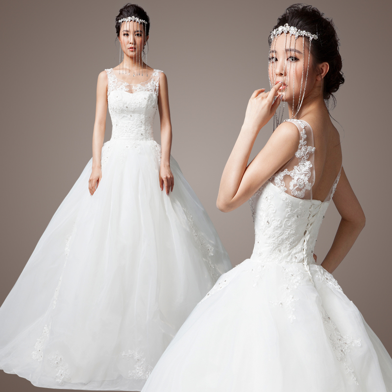 2013 lace shoulder strap beading slim waist skirt princess for Wedding dresses less than 300