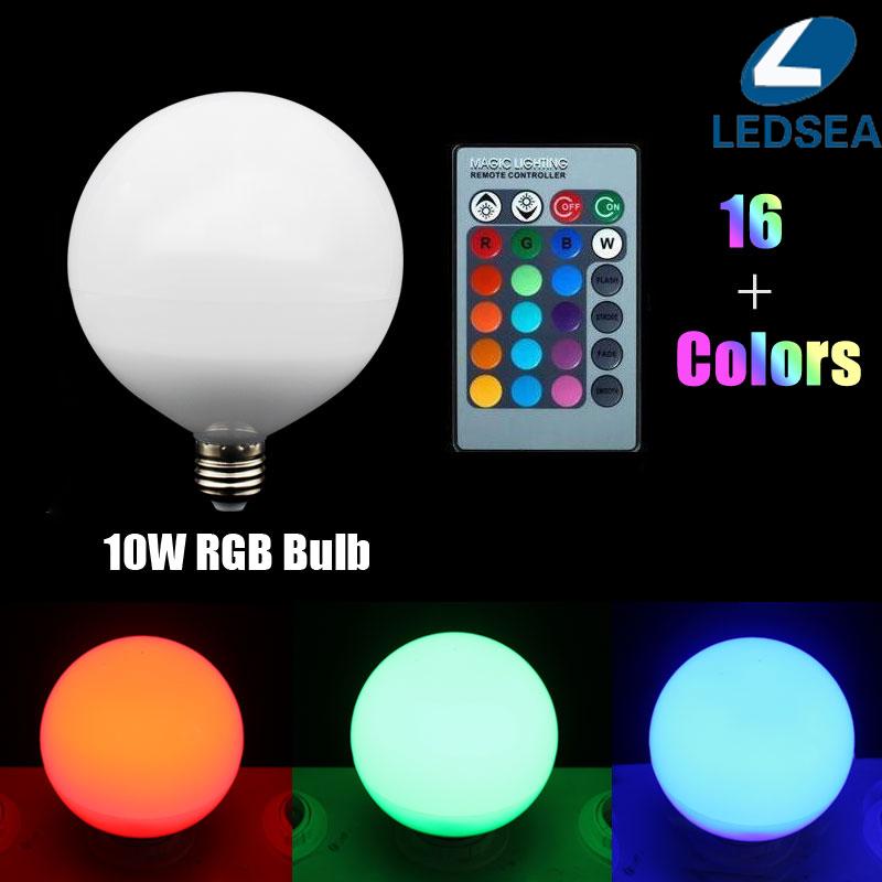 10W RGB Lampada LED Bulb E27 85 265V RGB LED Lamp E27 220V 110V Lamparas LED Light Bulb E14 Spot     -> Lampada Led Rgb