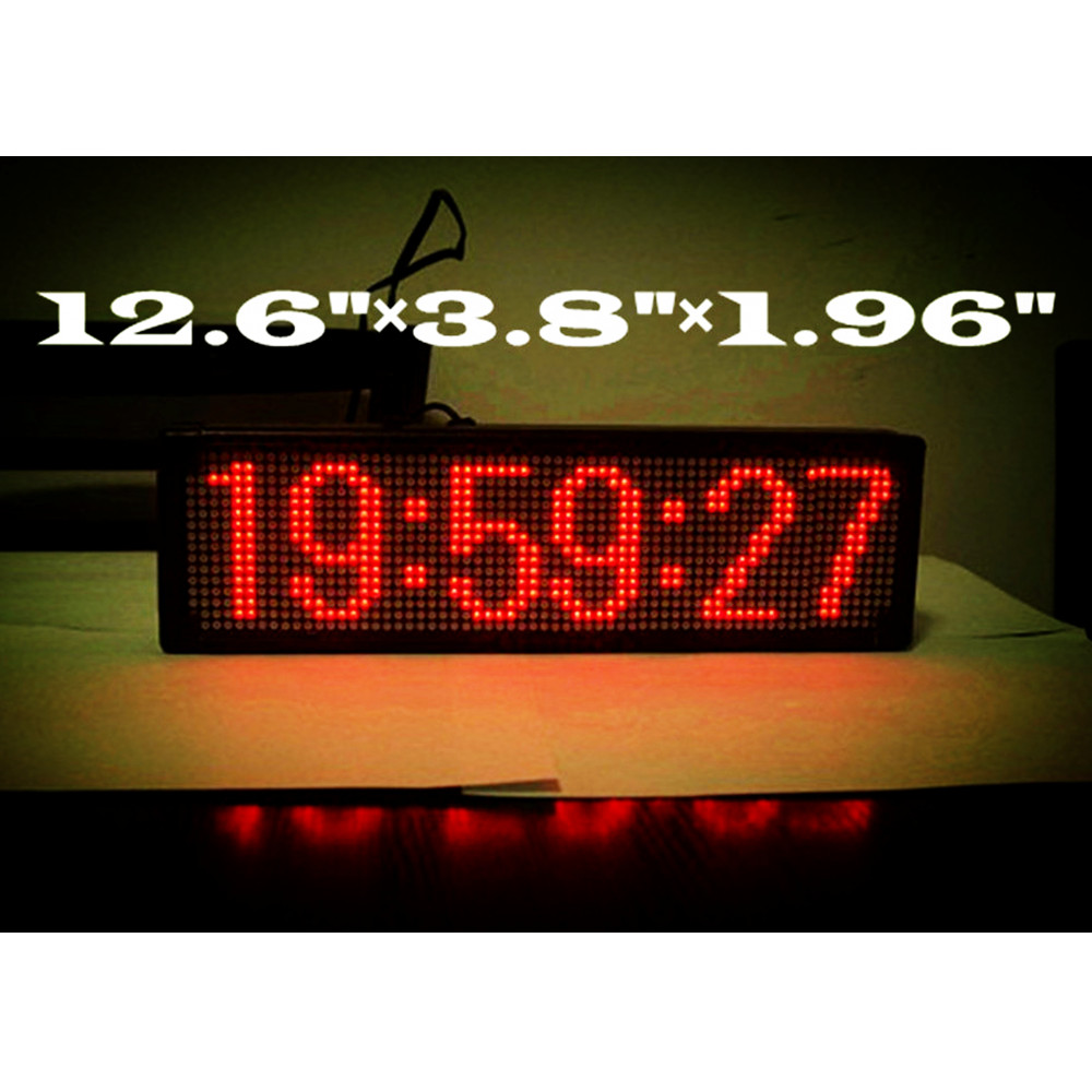 Large Digital LED Wall Clock Home Decoration, Coordinated Universal Time / GPS Automatic Correcting Self-setting Self-adjusting - Poon Brothers Mall store