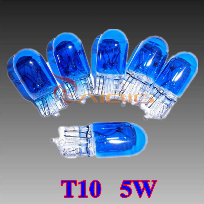 10pcs T10 Halogen W5W 194 Cool White 5W XENON Halogen Bulb Signal Interior Car light Lamp