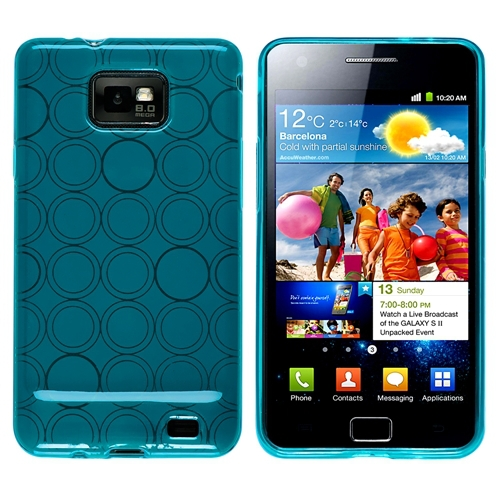 Blue Circle Skin Case TPU Gel Silicone Cover For Samsung ...