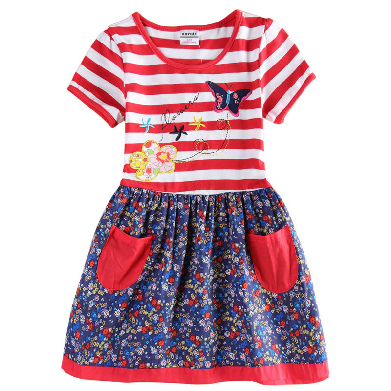 flower baby girl dress girls party princess nova brand children clothing kids clothes summer H6258 - Nova Brand Store store