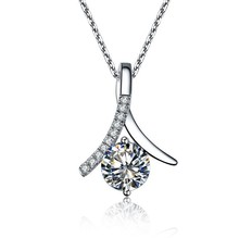 Buy 2Ct Sterling 925 Silver Synthetic Gem Pendant Necklace Fine Jewelry 925 Necklace Anniversary Pendant Sweater Chain Free 40cm for $65.28 in AliExpress store