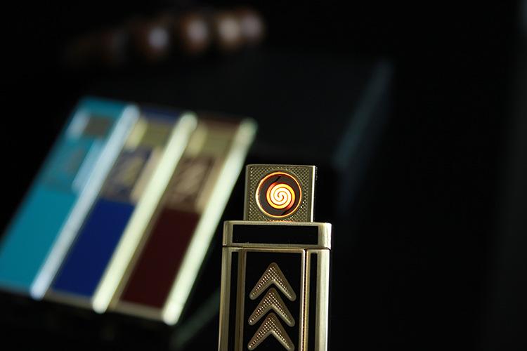 ถูก เสือแบบชาร์จไฟUSBเบา,โลหะลวดความร้อนไฟแช็กของขวัญระดับHigh-endไฟแช็ค.ของขวัญผู้ชาย