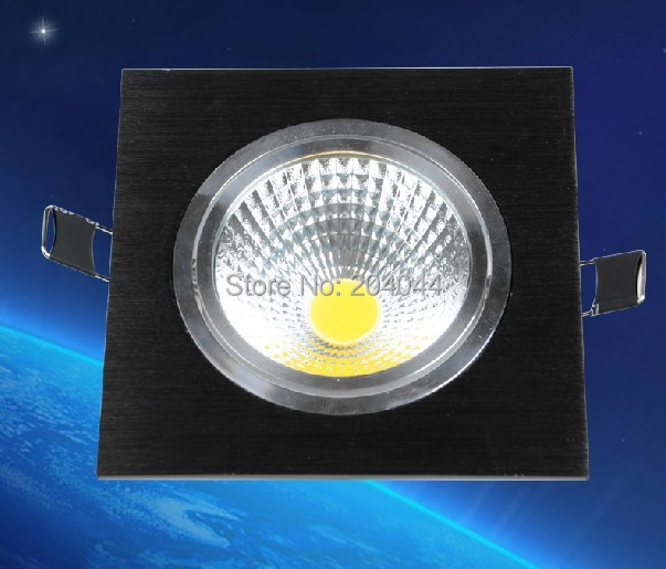 free shipping 3pcs/lot Square 15W LED COB Downlight with Epistar Power LED, 1450lm, IP20, OEM Orders are Welcome, CE, RoHS<br>