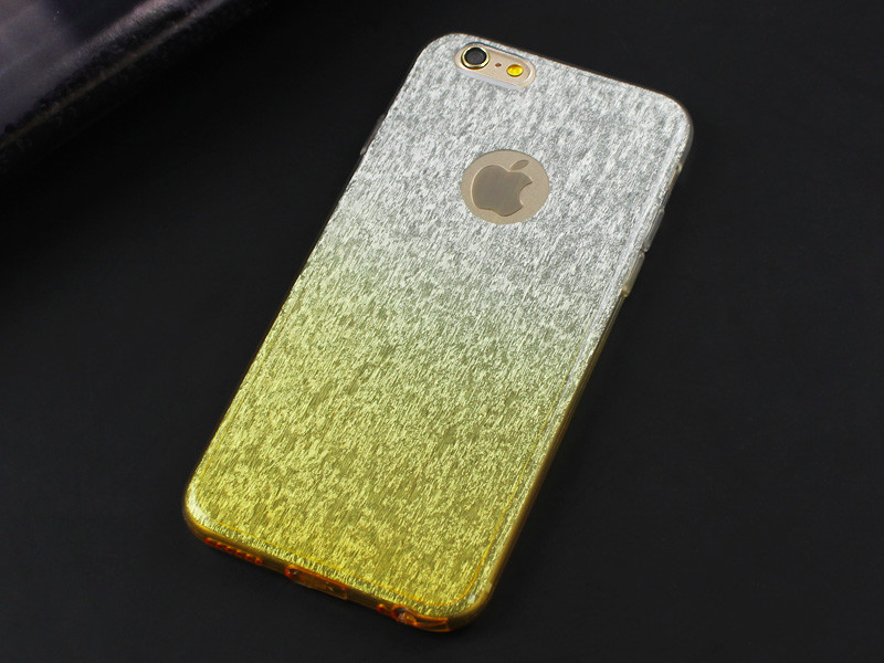 Top Selling Fashion Wire Drawing Rainbow Back Cover For iphone 6 6S Case Gradient Colorful TPU phone cases for iphone 6 6S Plus