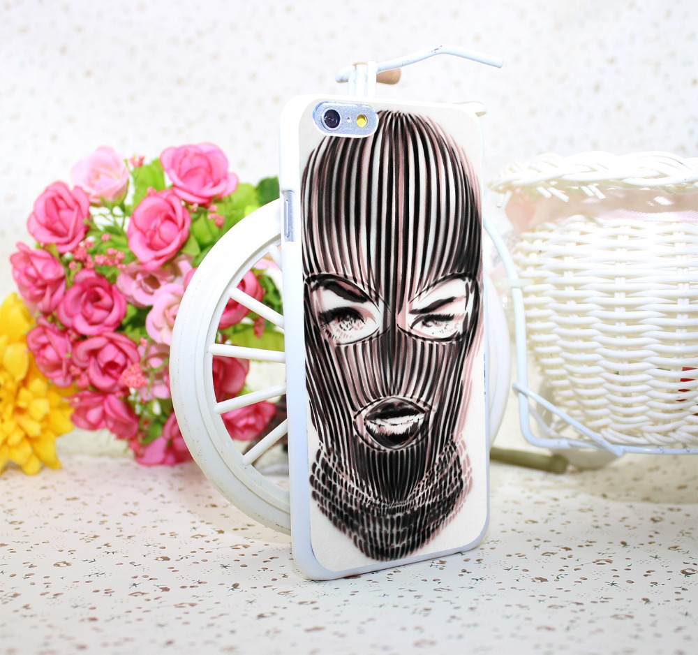 badwood 3d ski mask Hard White Case Cover for iPhone 6 6s 6 plus White Skin Print Series(China (Mainland))