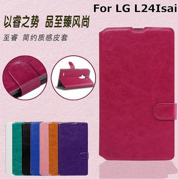 Flip wallet leather case cover LG L24 isai Free Screen Protector - 2015 Special Offer store