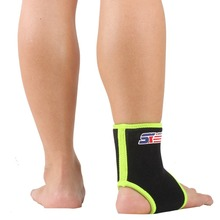 Free Shipping SX860-G Sports Basketball Elastic Ankle Foot Brace Support Wrap - Green Black(China (Mainland))