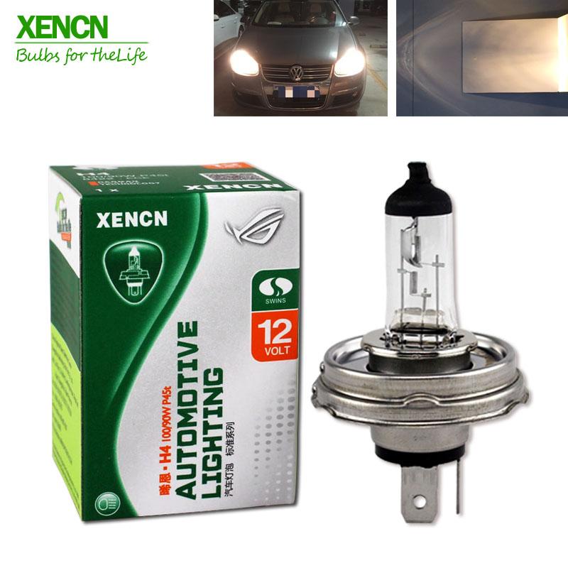 XENCN H4 P45t 12V 100/90W 3200K Clear Series Offroad Standard car Head Lights Halogen Bulb Auto Lamps Free 2PCS