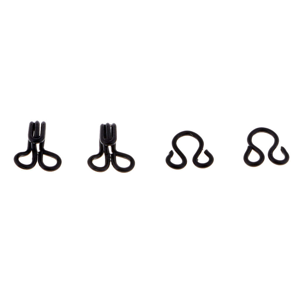 50 Sets Metal Sewing Hooks and Eyes Closure for DIY Bra Clothing Pants Dress Accessories