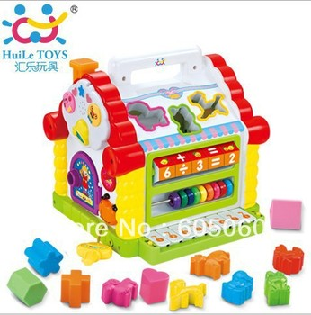 NEW Colorful Baby's Fun House Many Kinds Of Music Educational Toys -Free Shipping