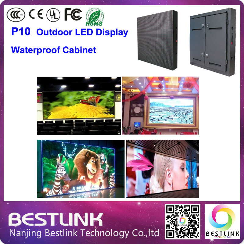 p10 led display screen cabinet with epistar chip module outdoor led video wall rgb led display advertising billboard open sign(China (Mainland))