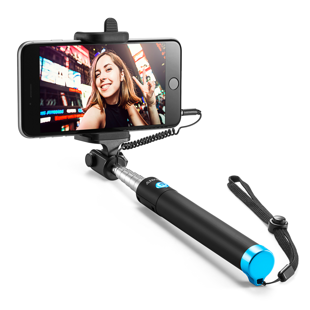 selfie stick anker extendable battery free wired handheld monopod for iphone se 6s 6 6 plus. Black Bedroom Furniture Sets. Home Design Ideas