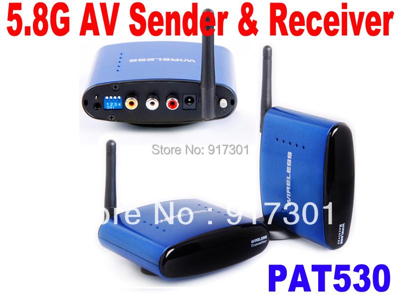 Free Shipping 5.8Ghz 5.8G Wireless AV Sender TV Video Transmitter Receiver IR Remoter Extender PAT530(China (Mainland))