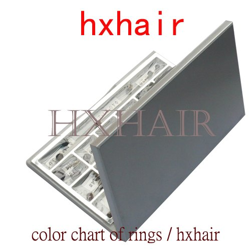 Freeshipping - 50pcs Color Chart of Rings / Micro Ring Links / Pre-Bonded I-Tip Hair Extension Tools