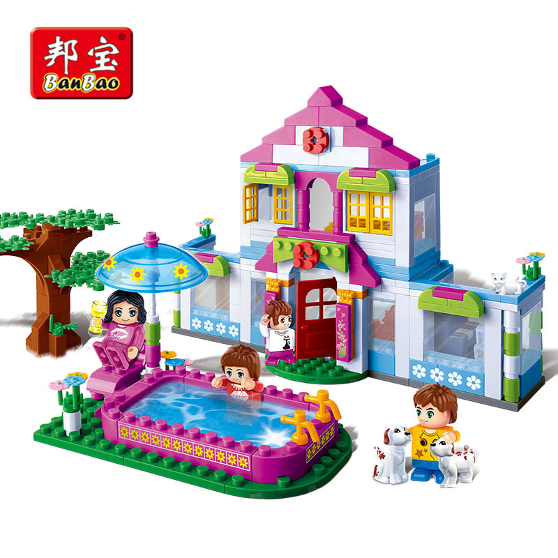 Girl Toys Age 10 And Up : Series of small cottages luban assembling toys girls