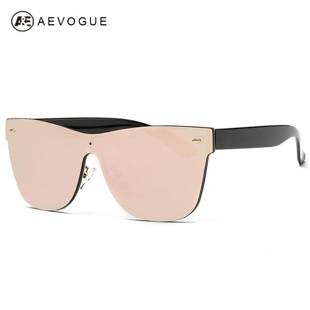 Aevogue женские солнцезащитные очки соединены очковых линз марка дизайн полуободковые летний стиль солнцезащитные очки óculos De Sol UV400 AE0323