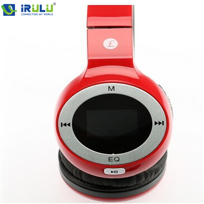 New Red Wireless Folding Stereo Headphone Sport headset MP3 Player FM TF Card Slot LED headband style(China (Mainland))