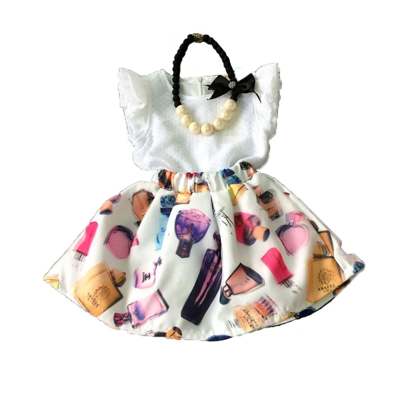 2016 Kids Girl Dress Summer Children Clothes Sleeveless Nova Perfume bottle Baby Wear - T&W store