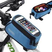 """ROSWHEEL4.8 """"5.5"""" PVC Saco de Bicicleta Ao Ar Livre Ciclismo Quadro Da Bicicleta Tubo Frente Bolsa Sacos Saco de Bicicleta para Celular 4 cor(China)"""
