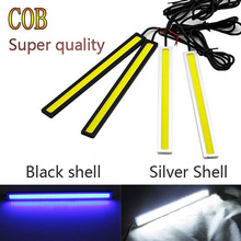 Ultra Bright 18W 17cm/ Silver Shell Daytime Running light 100% Waterproof COB Day time Lights LED Car DRL Driving lamp 1PCS(China (Mainland))