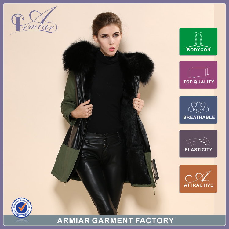2015 warm zip coat hooded mr mrs lovers cothes outwear leather fur plus size trench M003-04 - Guangzhou Armiar Fur Parkas Store -- Meifng Brand store