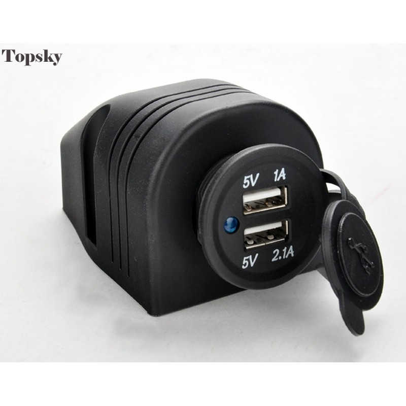 5V 2.1A + 1A 2 Ports Dual USB Car Charger Adapter Mini Car-charger For Phone Waterproof Universal Us
