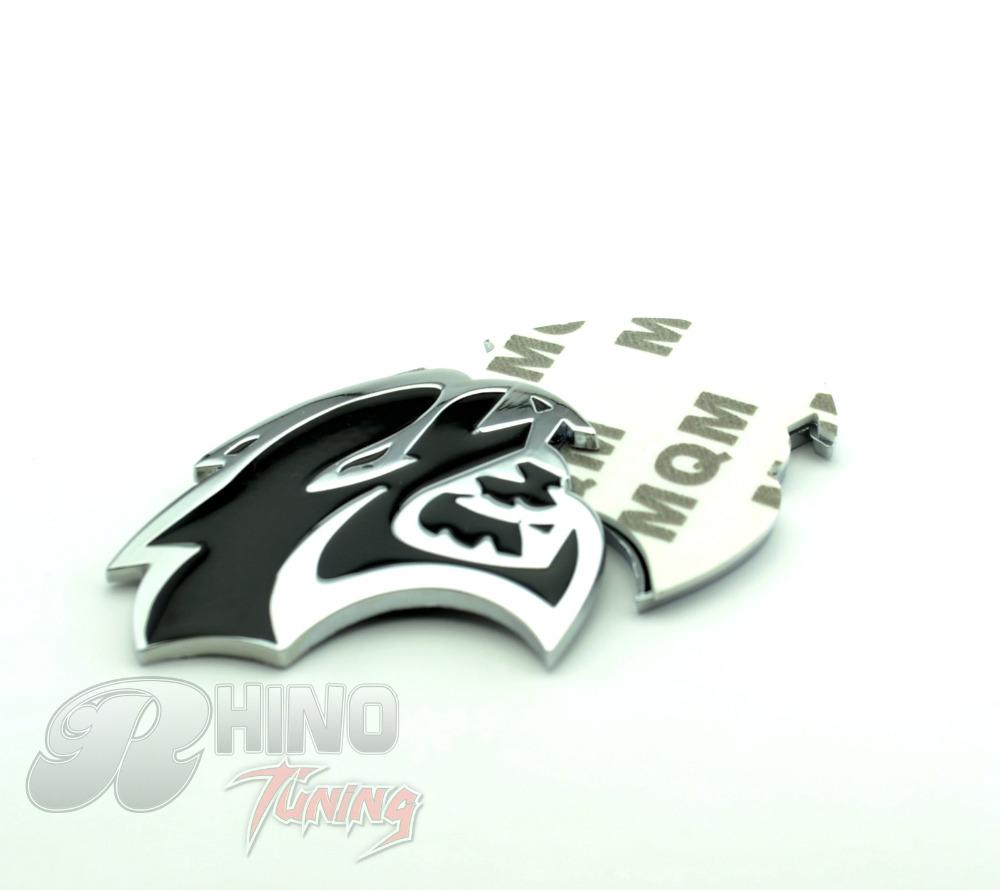 Hot Sale Silver Black Chrome HELLCAT Logo for Challenger Charger Chrysler Mopar Car Fender Side Stripe Emblem Sticker 442bk(China (Mainland))