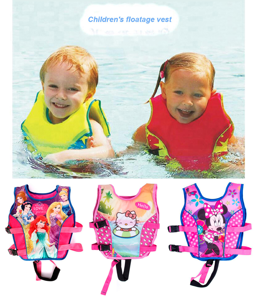 2-10 Years Child Swim Vest Girl Swim Trainer Kids Life Vest Jacket Girl Swimsuit Swimwear Water Sports Swimming Pool Accessories(China (Mainland))