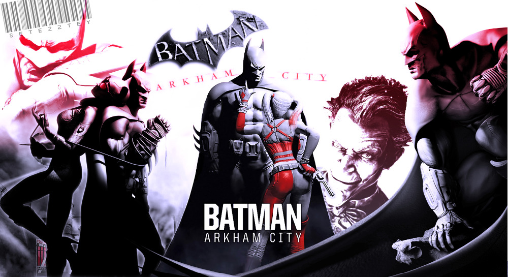 "Harley Quinn Batman Arkham City Fabric poster 43"" x 24"" 24"" x 13""Decor --018(China (Mainland))"