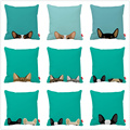 Naughty Cute French Bulldog Cat Pet Print Car Decorative Throw Pillowcase Pillow Case Cushion Cover Sofa