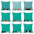 Naughty Cute French Bulldog Cat Pet Print Car Decorative Throw Pillowcase Pillow Case Cushion Cover Sofa