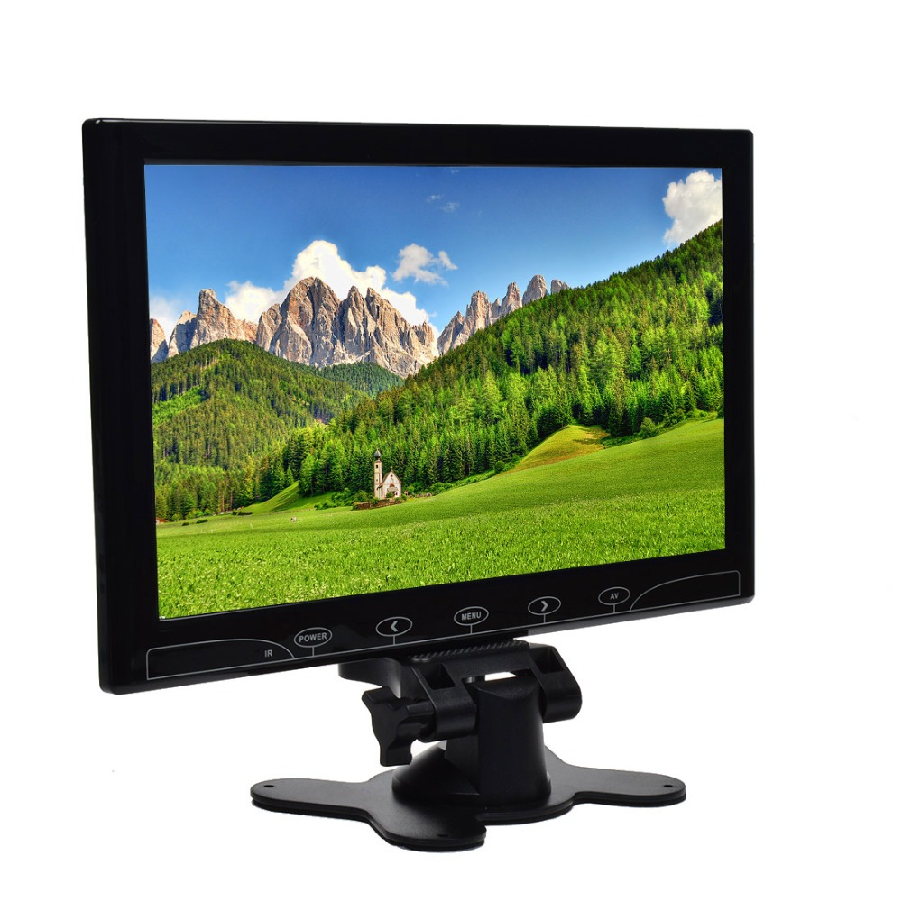 10.1 Inch TFT LCD Color Ultrathin 2 Video Input PC Audio Video Display VGA HDMI AV Input Security Monitor Screen+Remote Control(China (Mainland))